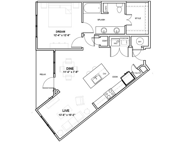 Reverchon Podium | 1 bed 1 bath | from 858 square feet