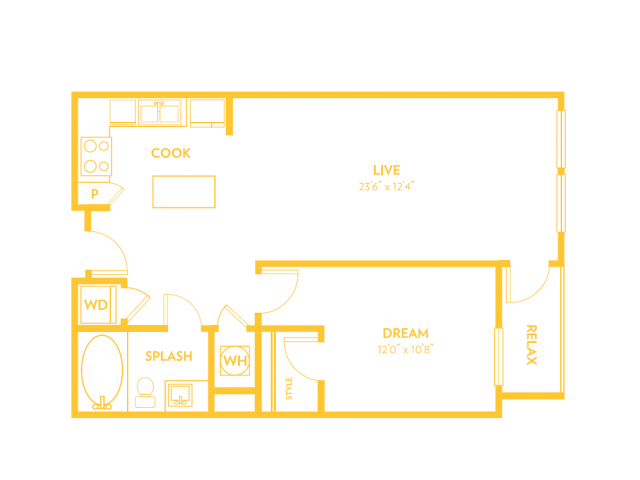 A10 | 1 bed 1 bath | from 818 square feet