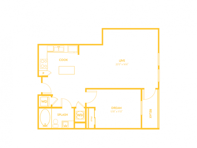 A11 | 1 bed 1 bath | from 873 square feet