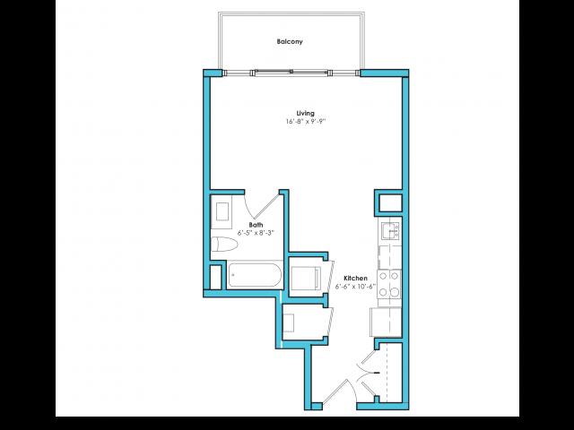 o-sc | Studio1 bath | from 415 square feet