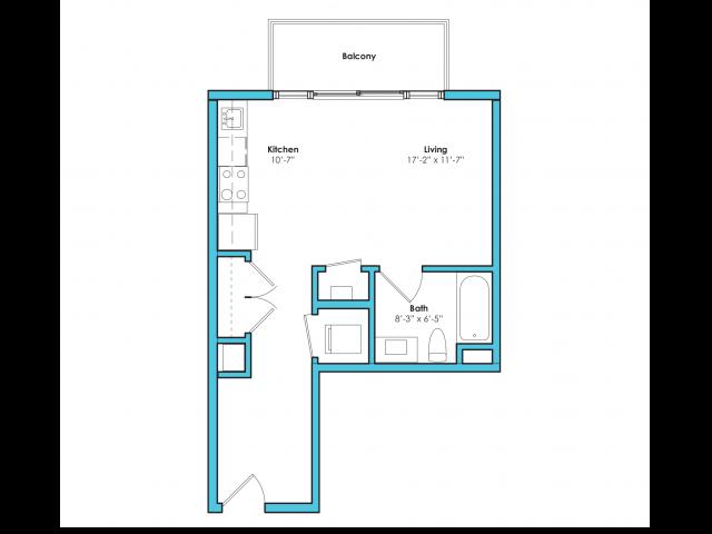 O-SD | Studio1 bath | from 435 square feet