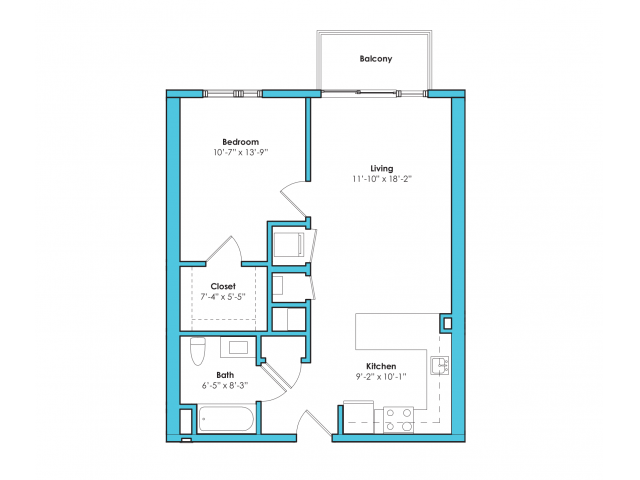 o-1a | 1 bed 1 bath | from 690 square feet