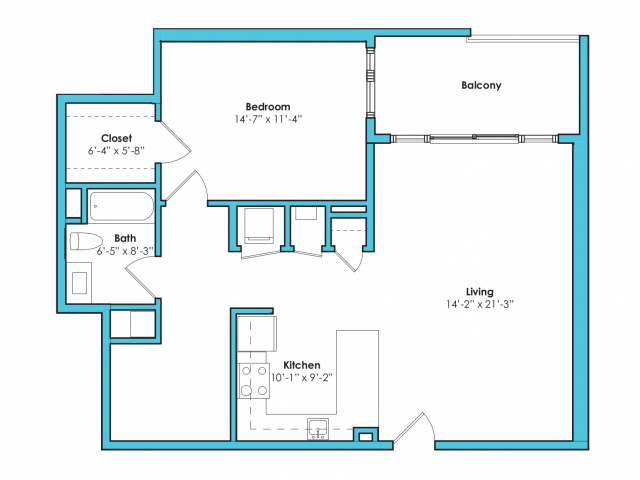 O-1A* | 1 bed 1 bath | from 915 square feet