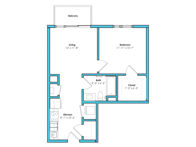 o-1b | 1 bed 1 bath | from 600 square feet