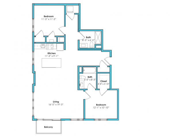 o-2e | 2 bed 2 bath | from 1140 square feet