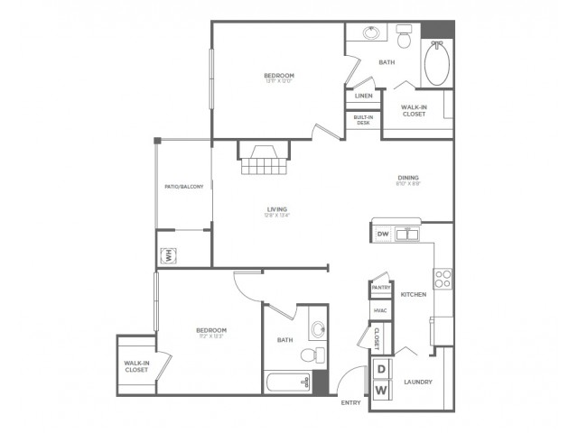 B3 | 2 bed 2 bath | from 1171 square feet