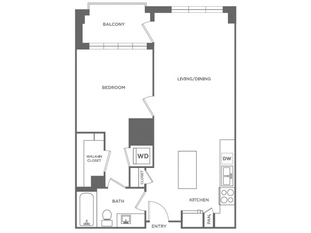 A5 | 1 bed 1 bath | from 735 square feet