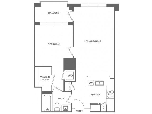 A6 | 1 bed 1 bath | from 699 square feet