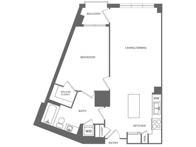 A9 | 1 bed 1 bath | from 751 square feet