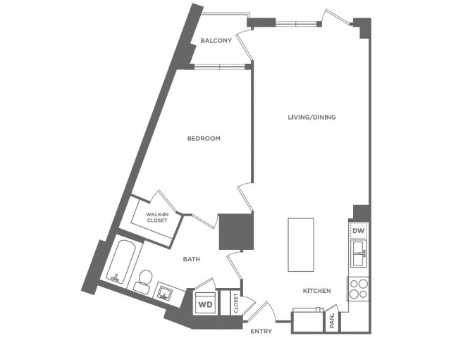 A10 | 1 bed 1 bath | from 804 square feet