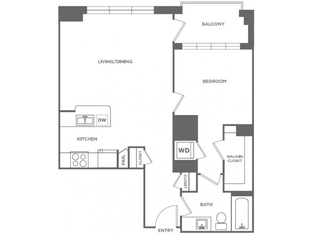 A11 | 1 bed 1 bath | from 757 square feet