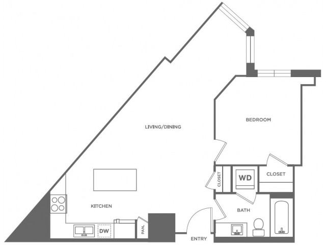 A12 | 1 bed 1 bath | from 675 square feet