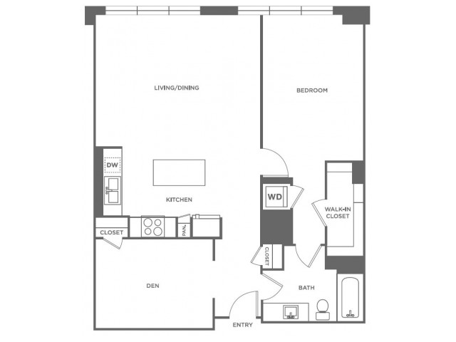 A16 | 1 bed 1 bath | from 1054 square feet