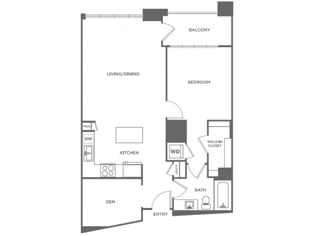 A20 | 1 bed 1 bath | from 895 square feet