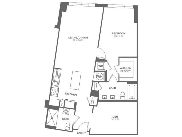 A21 | 1 bed 2 bath | from 1017 square feet