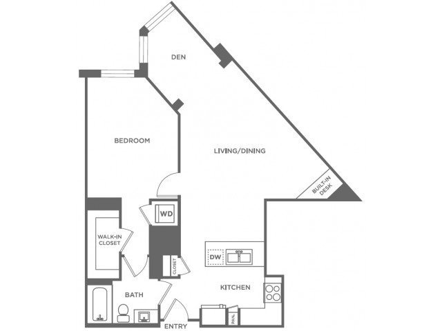 A22 | 1 bed 1 bath | from 887 square feet