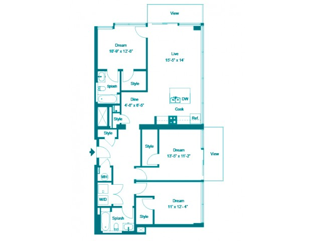 Tiffany | 3 bed 2 bath | from 1466 square feet