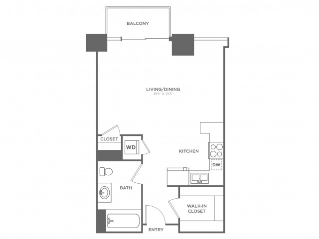 SA Freud | Studio1 bath | from 554 square feet
