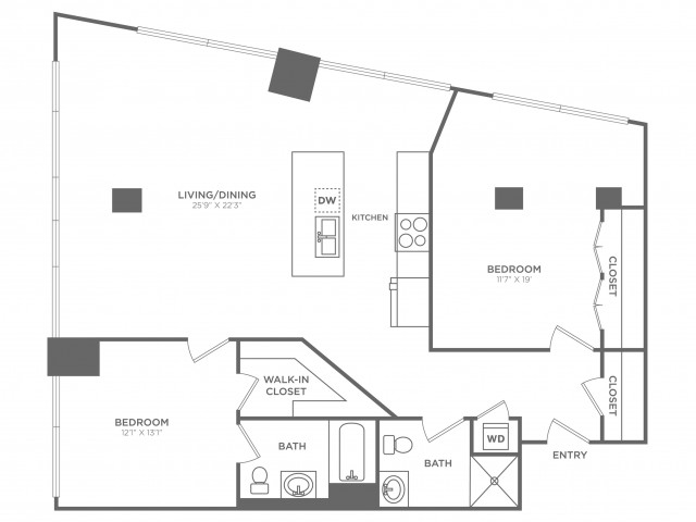 2G Einstein | 2 bed 2 bath | from 1475 square feet
