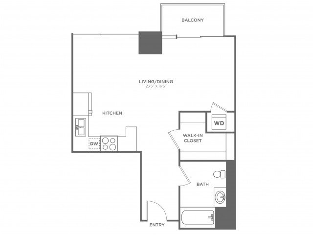 SB2 Zuckerberg | Studio1 bath | from 585 square feet