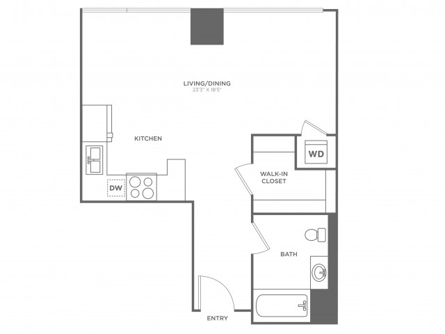 SB1 Bezos | Studio1 bath | from 635 square feet