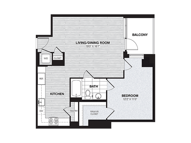 A4 | 1 bed 1 bath | from 805 square feet