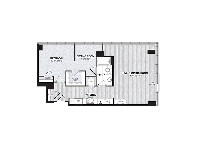 A5 | 1 bed 1 bath | from 924 square feet