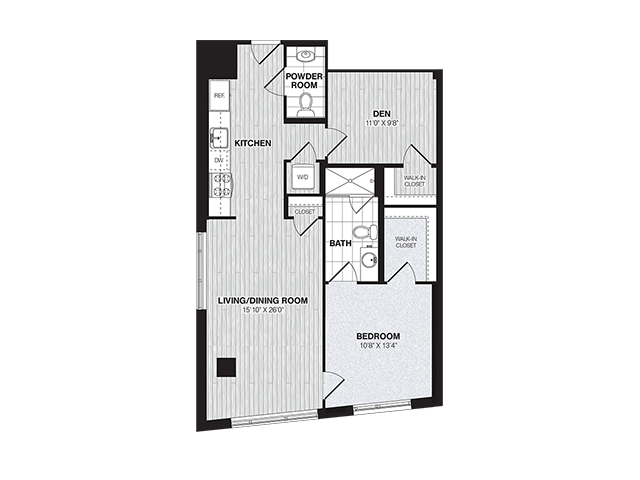 AD3 | 1 bed 2 bath | from 879 square feet