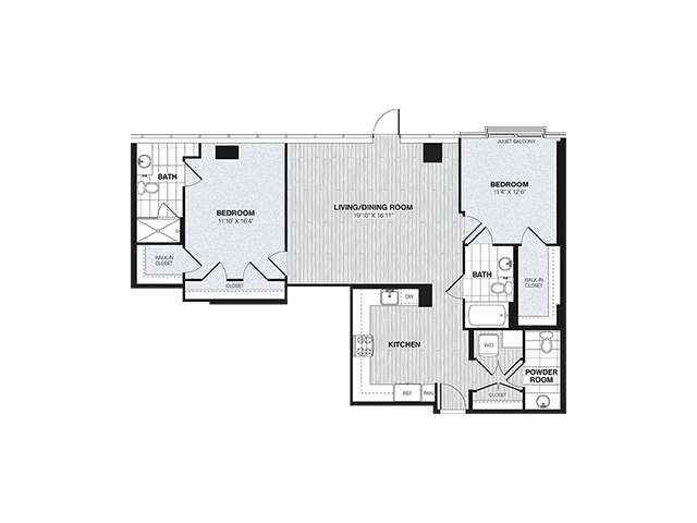 B5 | 2 bed 3 bath | from 1241 square feet