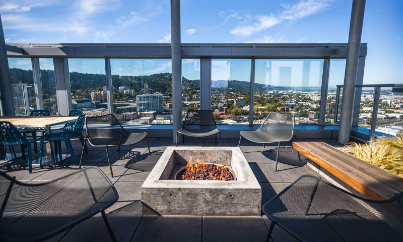 Image of Rooftop deck including grilling station for Indigo