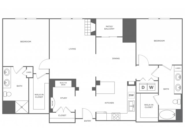 Pike | 2 bed 2 bath | from 1316 square feet