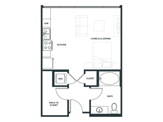 S1 | Studio1 bath | from 527 square feet