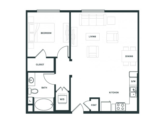 A8 | 1 bed 1 bath | from 793 square feet