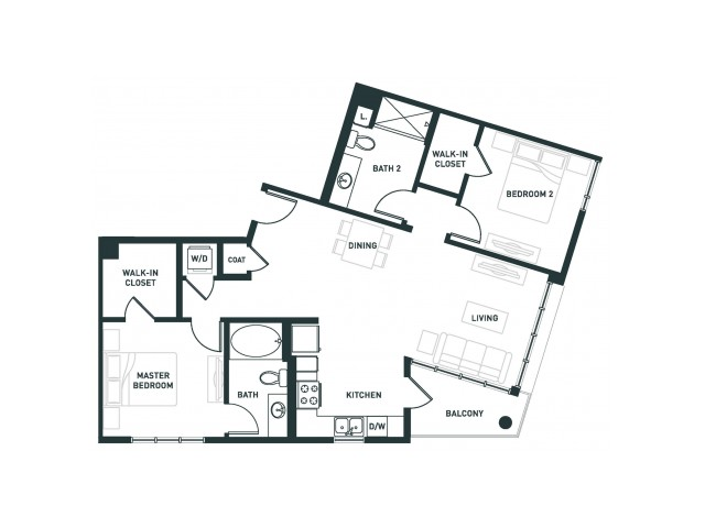 B1 | 2 bed 2 bath | from 1039 square feet