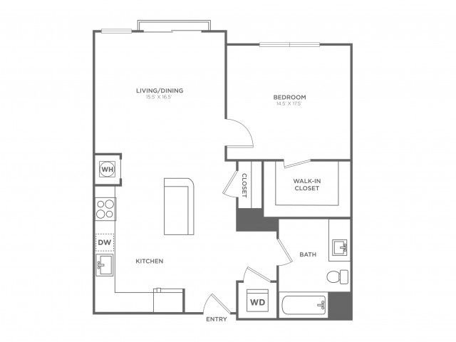 Pine West | 1 bed 1 bath | from 748 square feet