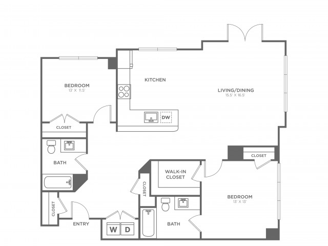 Oak West | 2 bed 2 bath | from 1300 square feet