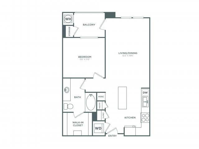 The Sunset | 1 bed 1 bath | from 778 square feet