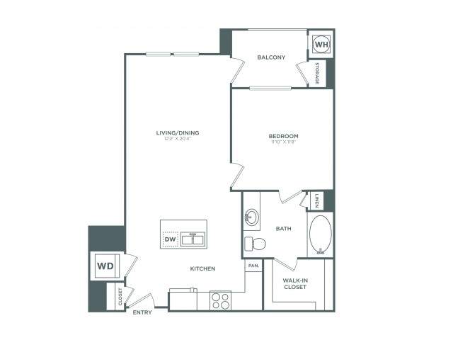 The Newport | 1 bed 1 bath | from 774 square feet