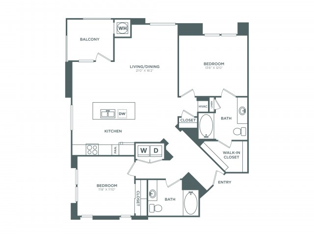 The Capistrano | 2 bed 2 bath | from 1227 square feet