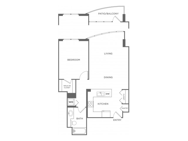 Plan10 | 1 bed 1 bath | from 725 square feet