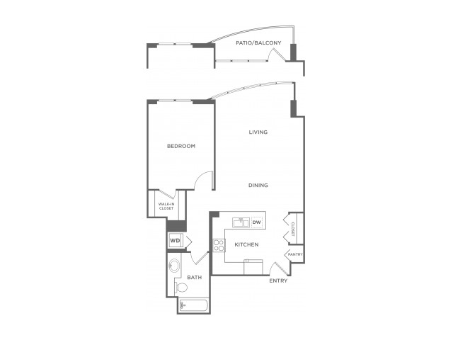 Plan 10 | 1 bed 1 bath | from 789 square feet