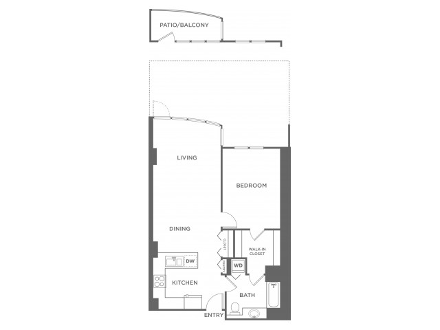 Plan 4 | 1 bed 1 bath | from 727 square feet