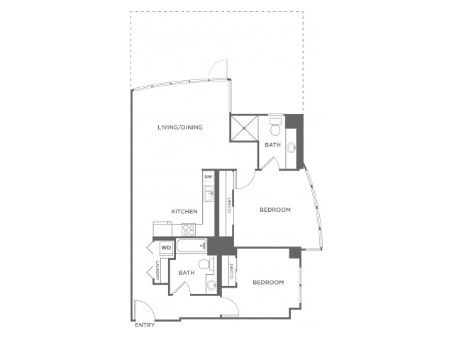 Plan 3 | 2 bed 2 bath | from 950 square feet