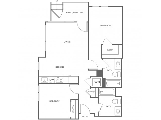 2b | 2 bed 2 bath | from 933 square feet