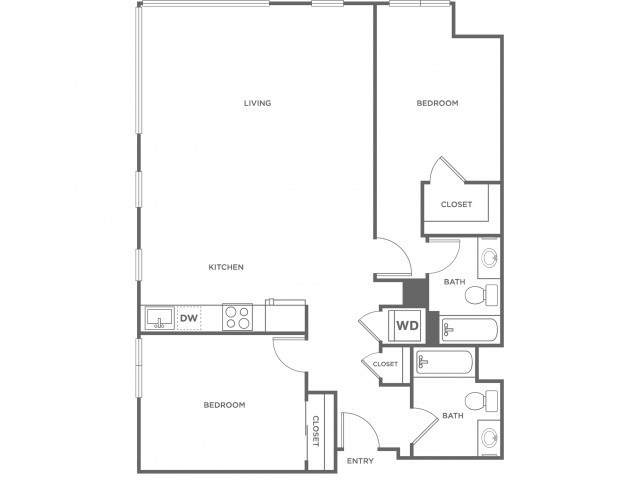 2g | 2 bed 2 bath | from 1254 square feet