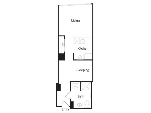 Studio B | Studio1 bath | from 541 square feet