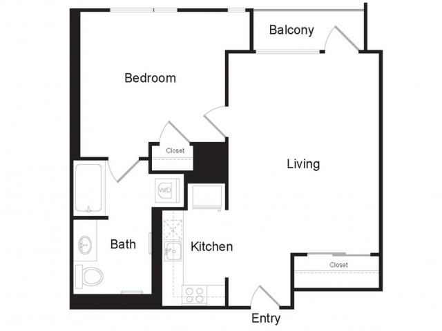 H1 | 1 bed 1 bath | from 644 square feet