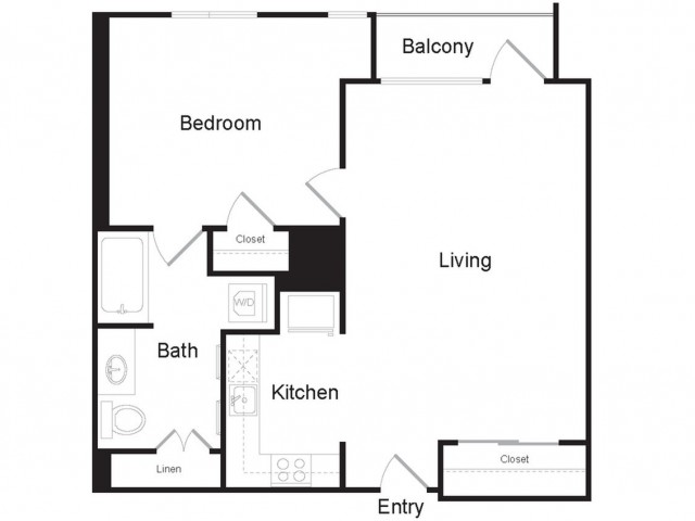 I1 | 1 bed 1 bath | from 663 square feet