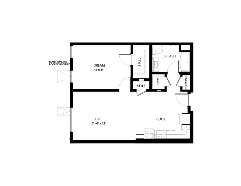 1L | 1 bed 1 bath | from 715 square feet