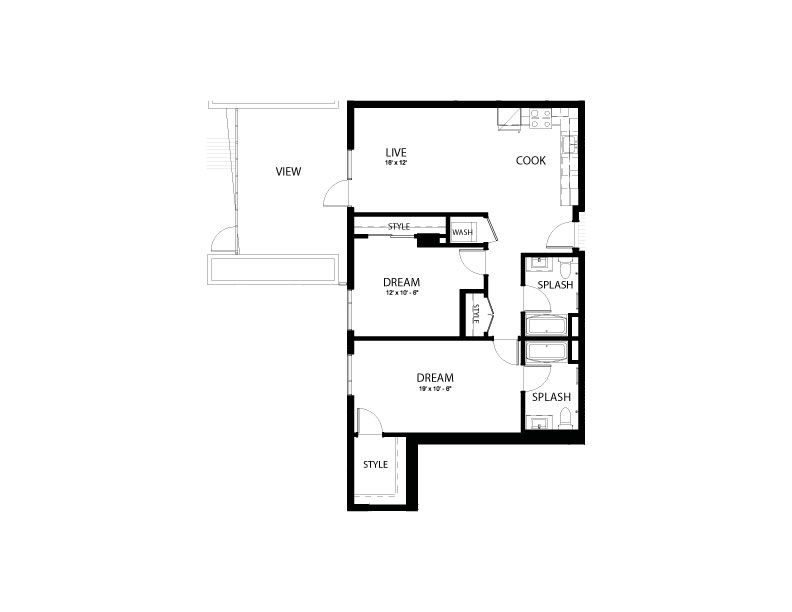 2CC | 2 bed 2 bath | from 1090 square feet